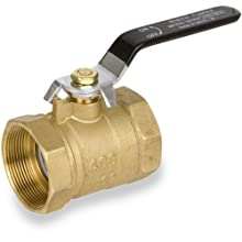 Smith-Cooper International 8135 Series Brass Ball Valve, Inline, Lever Handle, NPT Female