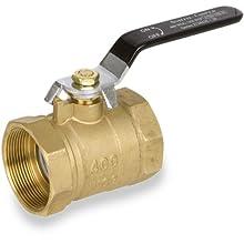 Smith-Cooper International 8135 Series Brass Ball Valve, Inline, Lever Handle, NPT Female