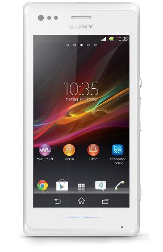 Sony Xperia M Smartphone (10,2 cm (4 Zoll) TFT-Display, 1GHz, Dual-Core, 1GB RAM, 5 Megapixel Kamera, NFC-fähig, Android 4.1) weiß
