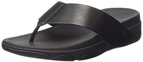 Fitflop Surfa Tm Leather Infradito, Donna, Nero (All Black), 38