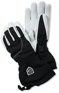 Hestra Women's Heli Glove, Black/Off White, 6