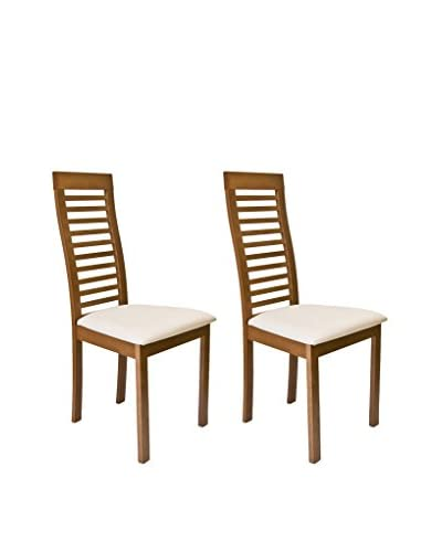 Aeon Furniture Set of 2 Denver Chairs, Walnut