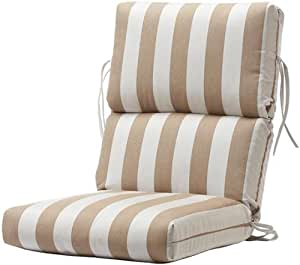 Amazon Bullnose High back Outdoor Chair Cushion 4
