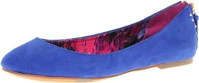 Madden Girl Women's Harmonee Ballet Flat,Blue Fabric,8.5 M US