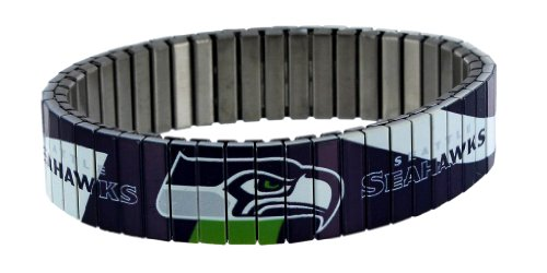 NFL Seattle Seahawks Stainless Steel Bracelet at Amazon.com