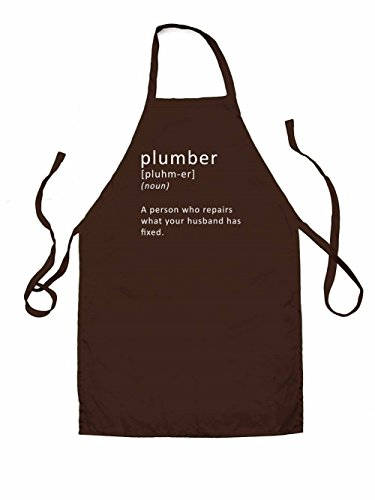 Plumber Definition - Unisex Fit Apron - Brown - One Size (Plumber Apron compare prices)