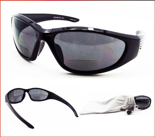 b6b305687c Polarized Bifocal Sunglasses for Men and Women. Premium TAC Polarized  Lenses and Sporty Wraparound Frame