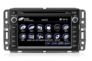 "OEM Replacement DVD 7"" Touchscreen GPS Navigation Unit For Chevrolet Chevy (07-12 Avalanche / Silverado / Suburban / Tahoe / Traverse, 07-12 Impala, 07- 09 Chev Equinox, 06-08 Chev Monte Carlo, 08-12 Express Van) With OnStar Supported,XM,Radio (AM/FM),iPod Interface,Bluetooth Hands Free,USB, AUX Input,US & Canada Map,Plug & Play Installation"