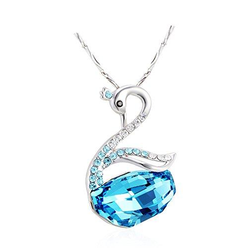 Swarovski Swan Necklace by Alviina. Original Swarovski Crystal 18″ Chain.