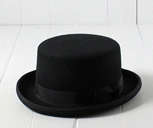 (エド) edo 日本製 ウールフェルトシルクハット[LOW] 16266561 ブラック 国産 トップハット ロークラウン ハット フォーマル 冠婚葬祭 結婚式 披露宴 二次回 パーティー フエルト 羊毛 本格派 メンズ 男性 紳士 EDOHAT 秋冬 帽子