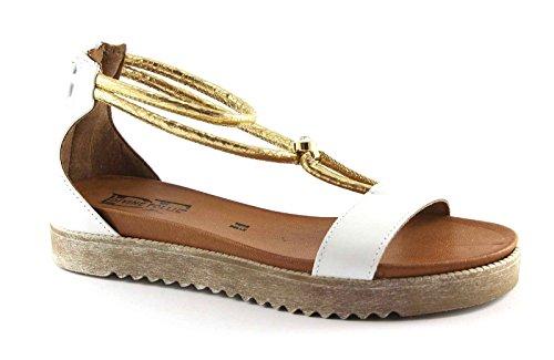 DIVINE FOLLIE 69630 bianco sandali donna zip tallone cavigliera 38