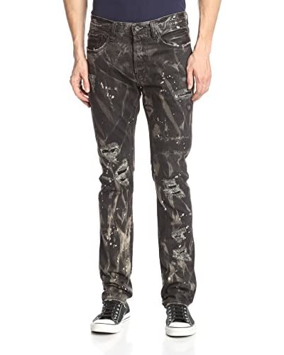 PRPS Goods & Co. Men's Lupus Demon Slim Straight Painted Jean