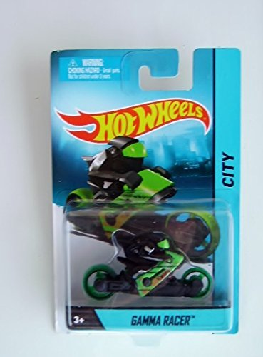 Gamma Racer (Black/Green) Diecast Motorcycle (Hot Wheels)(2013) - 1