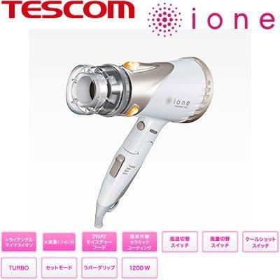 テスコム ヘアードライヤー(ホワイト)TESCOM ione マイナスイオン TID920-W