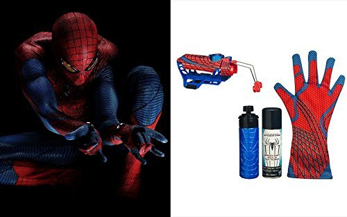 Great Spider-man 2-in-1 spray silk water glove Playsets Action Figure Amazing Spiderman Toys Deluxe Rapid Fire 2 in1 Web Fluid water Shooter With Hero Glove Kids Roleplaying Brinquedos