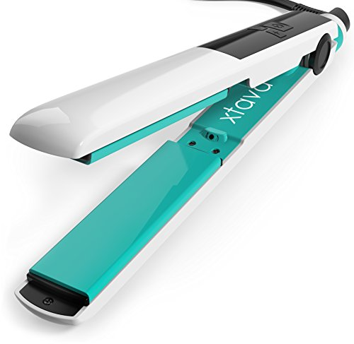 xtava Goddess Flat Iron with Ceramic Tourmaline Plates and LCD Display (Pomona) - Rapid-Heat Technology for Quick, Silky Strands (Fahrenheit Flat Iron Sleek compare prices)
