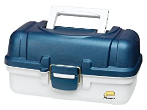 Plano 2-Tray Tackle Box(Blue Metallic/Off White)