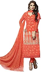 Crazy Style Chiffon Embroidered Un-Stiched Dress Material With Inner