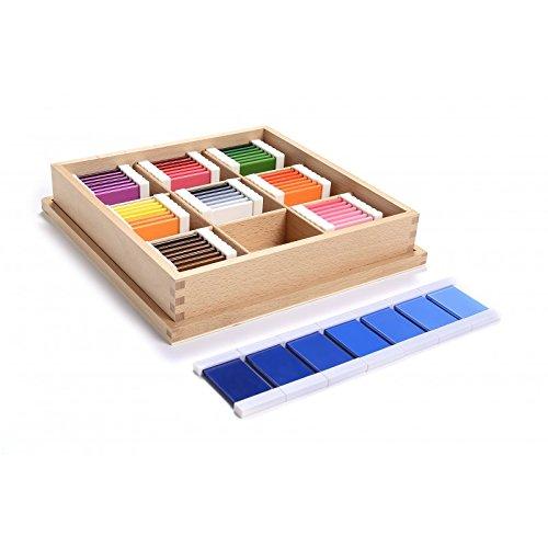Montessori Sensorial Materials Color Tablets Plastic (3rd Box)