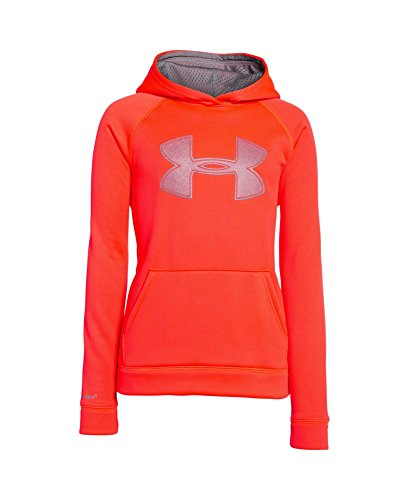 Under Armour Youth Boys' Fleece Storm Big Logo Hoody, Bolt Orange/Graphite, Large