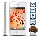 Unlocked Quadband Dual Sim with Android 4.0 3g Smart Phone 3.5 Inch Capacitive Touch Screen - At&#038;t, T-mobile, H20, Simple Mobile and Other GSM Networks (White)