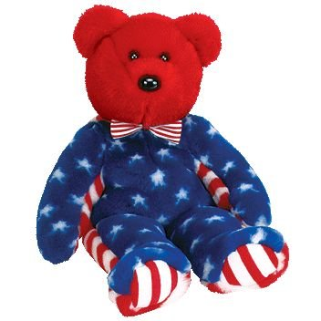 Ty Beanie Buddies Liberty - Bear Red