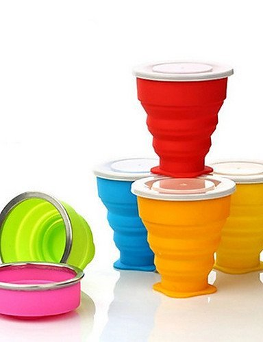 """Ui&LyTravel Bottle & Cup / Travel Toothbrush Container/ProtectorForTravel Drink & Eat Ware Rubber 3.5""""*3.1""""*1.8""""(9cm*8cm*4.5cm) , yellow"""