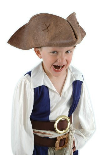 Elope Jack Sparrow Hat-Brown, Kid Size