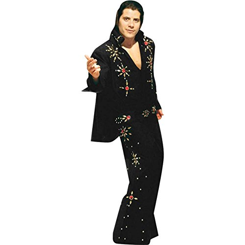 Men's Black XXL 2-Piece Elvis Costume