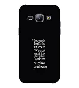EPICCASE Wise words Mobile Back Case Cover For Samsung J1 Ace (Designer Case)