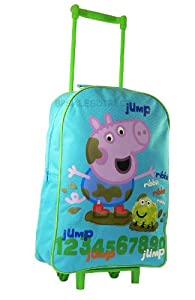 Peppa Pig George - Kids Wheeled Bag Trolley Case - Jump from ACS