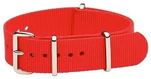 NATO G10 Nylon Fabric Canvas Premium Quality Watch Band Strap - 18mm / Red - (Military Army J. Crew Timex Weekender Daniel Wellington)