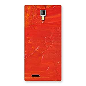 Orange Paint Back Case Cover for Micromax Canvas Xpress A99