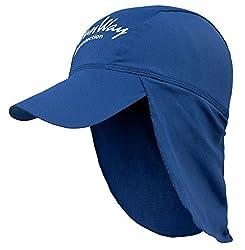 SunWay Baby Kids Girls Boys Navy blue Legionnaire Hat Cap UV protective (UPF 50+) (Kids (2-7 years))