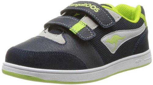 KangaROOS Unisex - Child Spare Trainers Blue Blau (dk navy/lt grey/lime 428) Size: 33