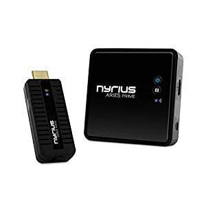 Nyrius ARIES Prime Digital Wireless HDMI Transmitter & Receiver System for HD 1080p 3D Video Streaming, Laptops, PC, Cablebox, Satellite, Blu-ray, DVD, PS3, Xbox (NPCS549)