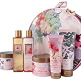 Ted Baker Sitting Pretty Vanity Case 6 Piece Gift Set Body Wash 250ml Body Scrub 300ml Body Lotion 200ml Bath Foam 250ml Body Souffle 300ml Hand Cream 125ml & Vanity Case
