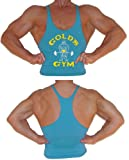 G300 Golds Gym Mens String Tank Top Joe logo (M, Turquoise)