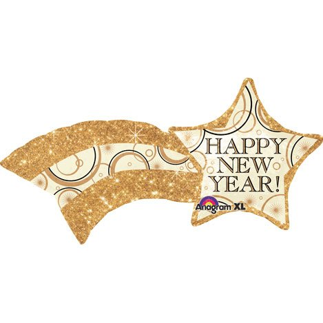 "Happy New Year SuperShape Foil Balloon 22""x27"""