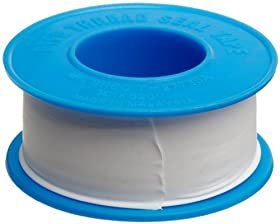 "Dixon Valve TTB75 PTFE Industrial Sealant Tape, -212 to 500 Degree F Temperature Range, 3.5mil Thick, 520"" Length, 3/4"" Width, White"