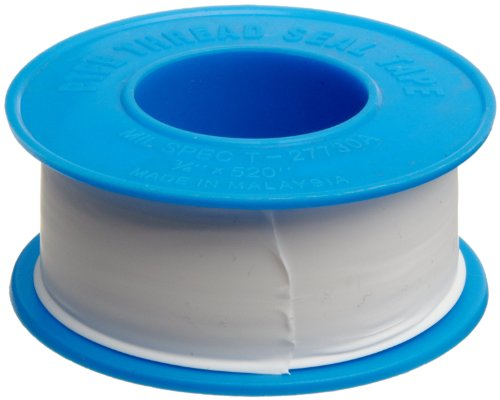 Dixon Valve TTB75 PTFE Industrial Sealant Tape, -212 to 500 Degree F Temperature Range, 3.5mil Thick, 520