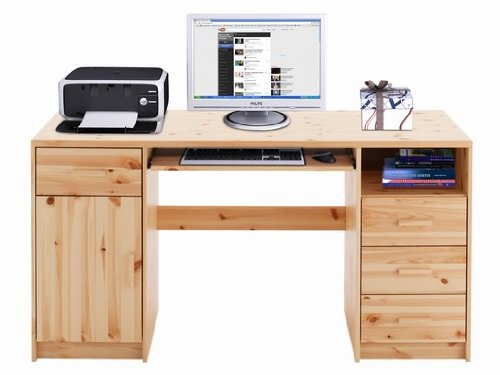 Working desk CONNIE, solid pine, painted | 650501