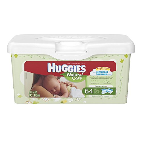 Huggies Natural Care Unscented Baby Wipes Tub - 64ct ( 2-pack) - 1