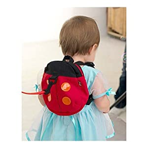 SODIAL- Baby Toddler Backpack Safety Harnesses Strap Ladybird