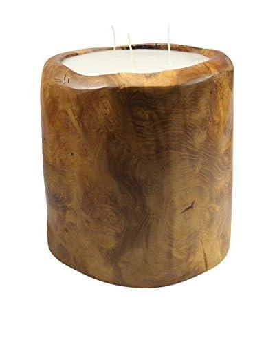 Volcanica Teakwood Bucket Candle, Natural
