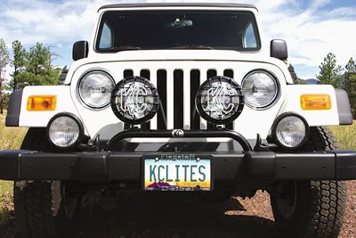 Kc Hilites 7400 1997-2006 Jeep Wrangler Tj Stock Bumper Mount 2-Tab Light Bar