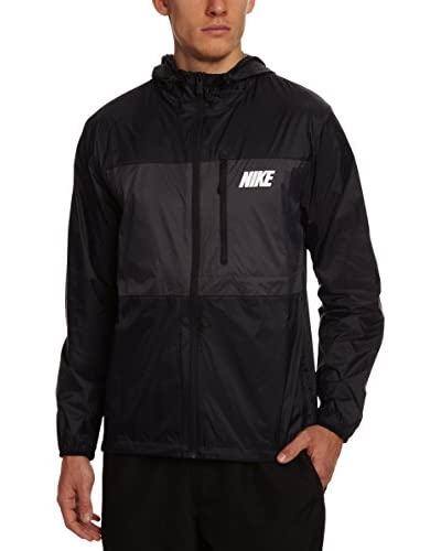 Nike Blazer Uomo Packable Hooded [Nero/Grigio Scuro/Bianco]