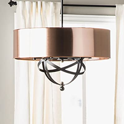 Elegant 6 Light Copper Chandelier Pendant Lamp Ceiling Fixture Home Lighting /RM#G4H4E54 E4R46T32597410