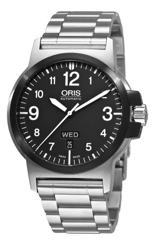 Oris Men's 73576414364MB BC3 Sportsman Day Date Stainless Steel Bracelet Watch