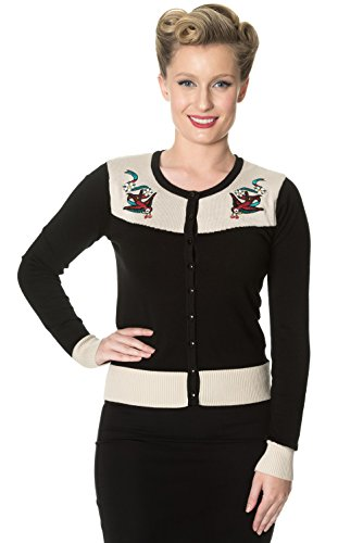 Banned Young Love Retro Cardigan Vintage - Black / S